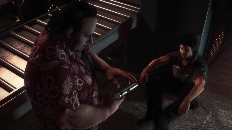 Cut scene featuring Nick & New Survivor; Gary. Screenshot #2