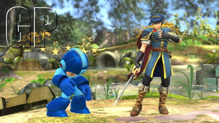 Looks like Marth has knocked out one of Megamans power cells