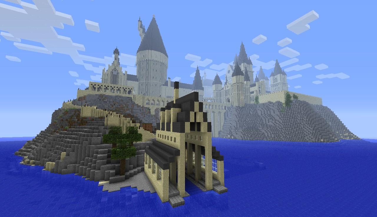 майнкрафт карта большого рыцаря и замком #3