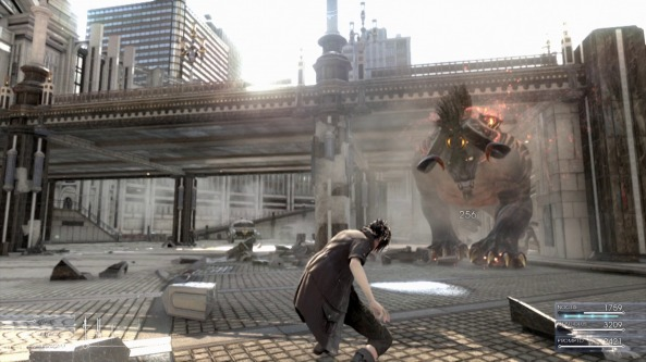 A Screenshot of gameplay footage from Final Fantasy XV from E3 2013.