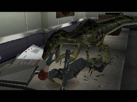 Screenshot from the first Dino Crisis