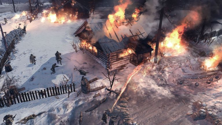 Company-of-Heroes-2-flaming-houses