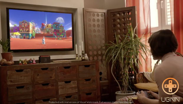 Footage from the Nintendo Switch reveal showing a new Mario.